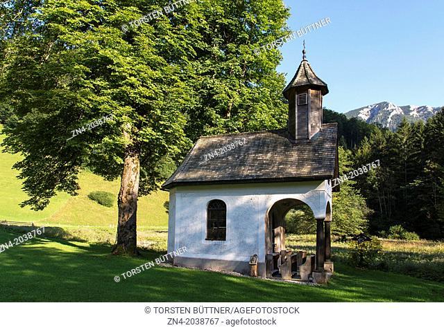 Chapel Annakapelle in Bodinggraben in Kalkalpen National Park. Near Molln. Austria