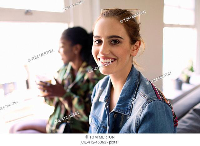 Portrait smiling, confident young woman
