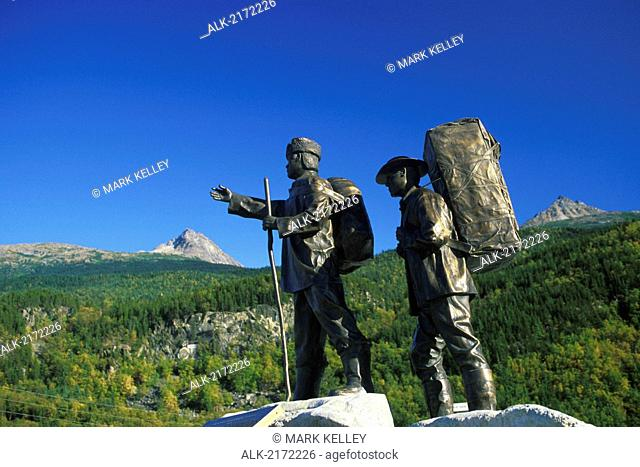 Statues White Pass Trail Skagway Southeast Alaska