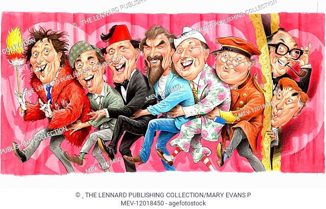 Ken Dodd, Norman Wisdom, Tommy Cooper, Billy Connolly, Max Miller, Beny Hill, Eric Morecambe, Frankie Howerd - Comedians