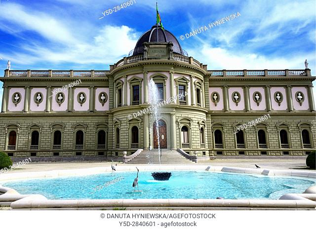 Ceramic and glass museum Ariana, Geneva, Switzerland. Geneva, Switzerland