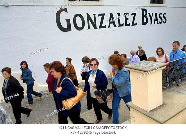 Exterior of Gonzalez Byass winery Tio Pepe  Jerez de la Frontera  Cádiz province  Spain