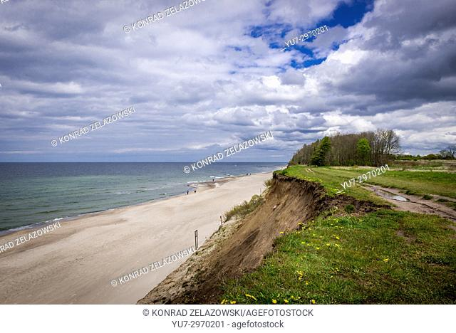 Cliff between Trzesacz and Rewal villages in West Pomeranian Voivodeship of Poland