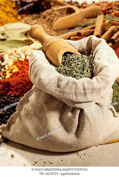 Bodegon of spices, Exotics, coat. Valencia