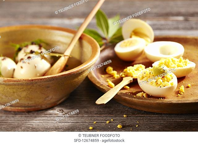 Berlin boiled eggs with mustard (Germany)