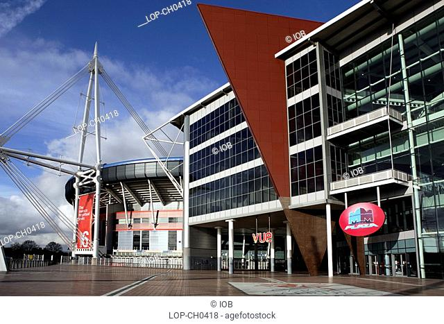The Wales Millennium Stadium and Millennium Plaza. The stadium is used primarily for rugby union and football home internationals but before the new Wembley...
