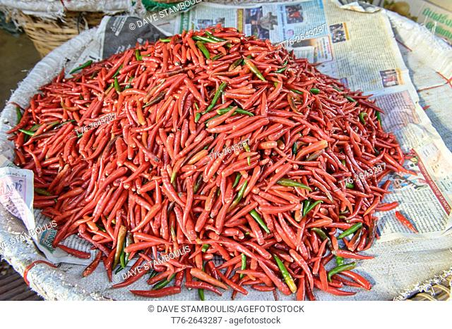 spicy chilies for sale in Bangkok, Thailand