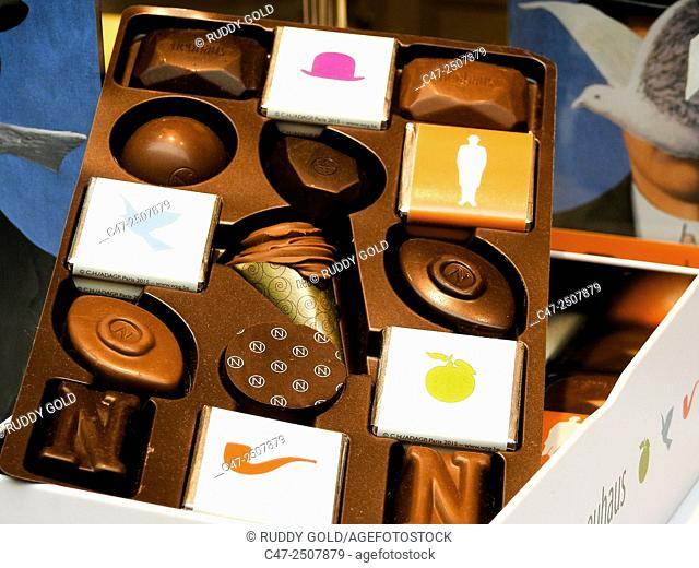 Chocolate shop. Belgium