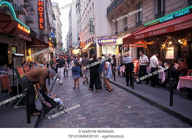 Europe, France, Paris,Restaurant, Latin Quarter