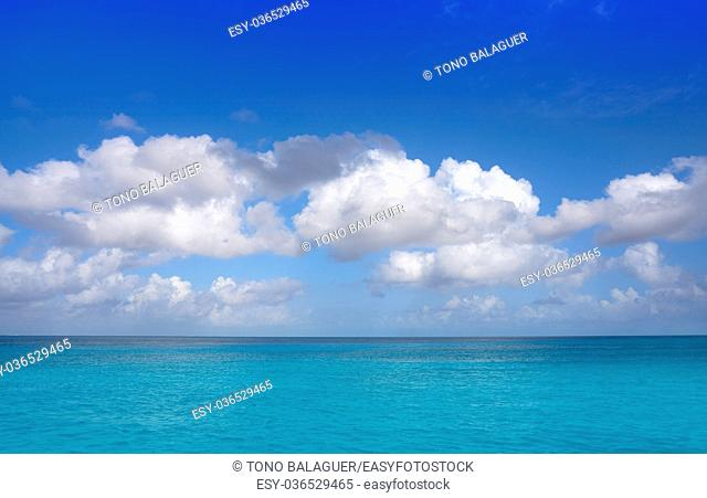 Caribbean perfect turquoise water texture in Mexico Mayan Riviera