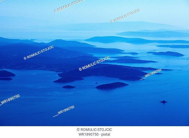 Aerial View, Kornati, Dalmatia, Croatia