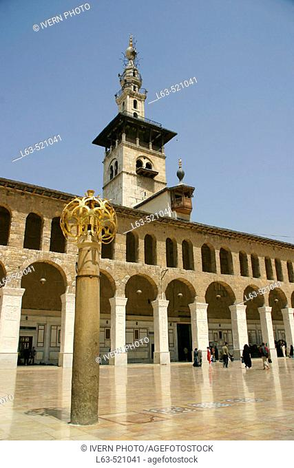 The Umayyad Mosque built 705-715 by caliph Al-Walid I, Damascus. Syria