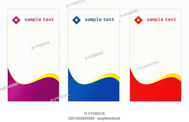 Set of vertical business card templates