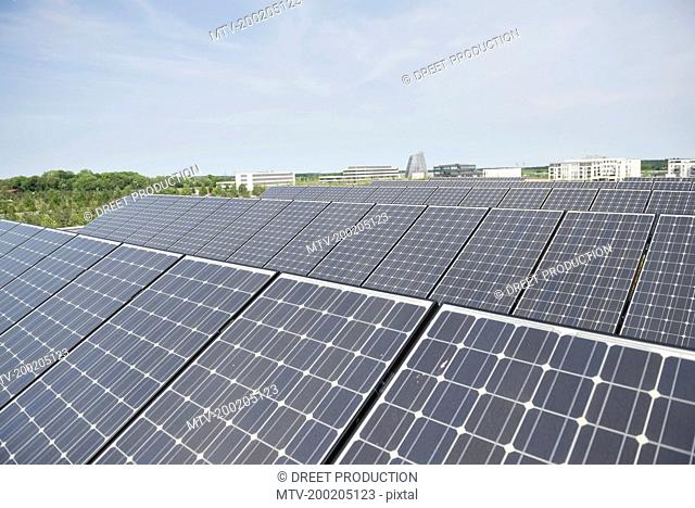 Photovoltaic panel electricity energy roof