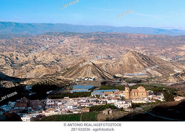 Alicún. Andarax river valley, Almería province. Andalusia, Spain