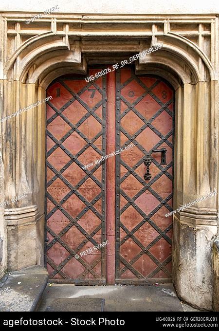 Old Door on Untermarkt, Görlitz (Goerlitz), Germany