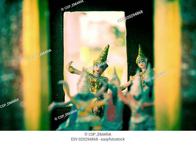 Golden Kinnari in Temple