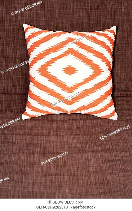 Close-up of a pillow on the bed