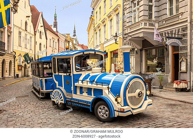 Little Blue Train Tallin Estonia