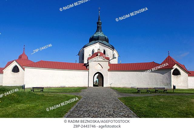 Pilgrimage church of St. John of Nepomuk, Zelena Hora, Zdar Nad Sazavou, Moravia, UNESCO world heritage Czech Republic
