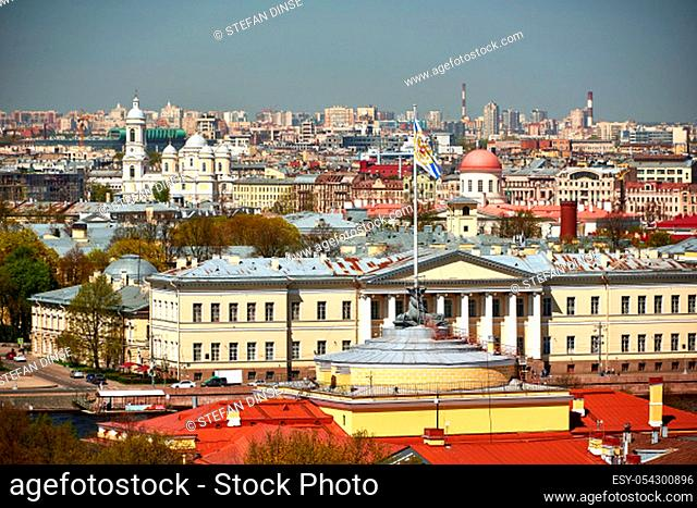 sight and view on city of Saint Peterbug in Russia
