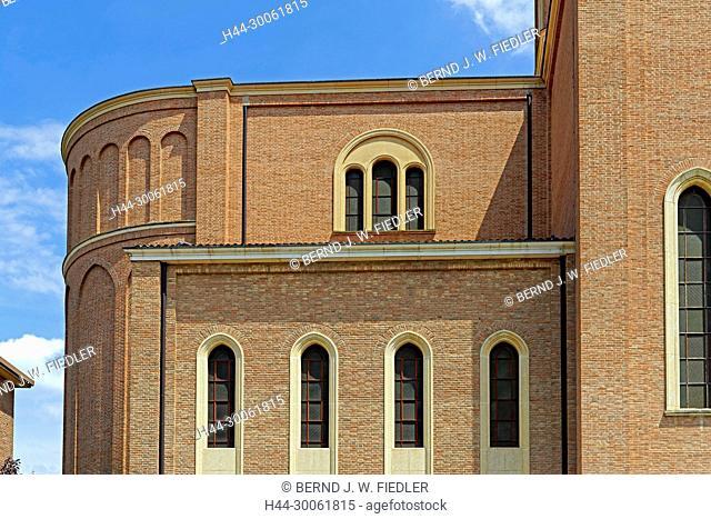 Europe, Italy, Veneto Veneto, Montegrotto Terme, Viale Stazione, church, Duomo Tu San Pietro Apostolo, architecture, building, church, detail, place of interest