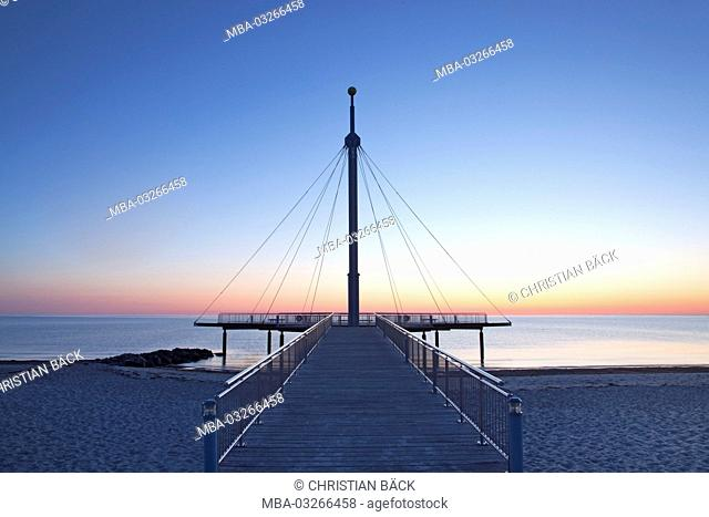 Pier of Hohwacht at the Baltic Sea, Schleswig - Holstein, North Germany, Germany