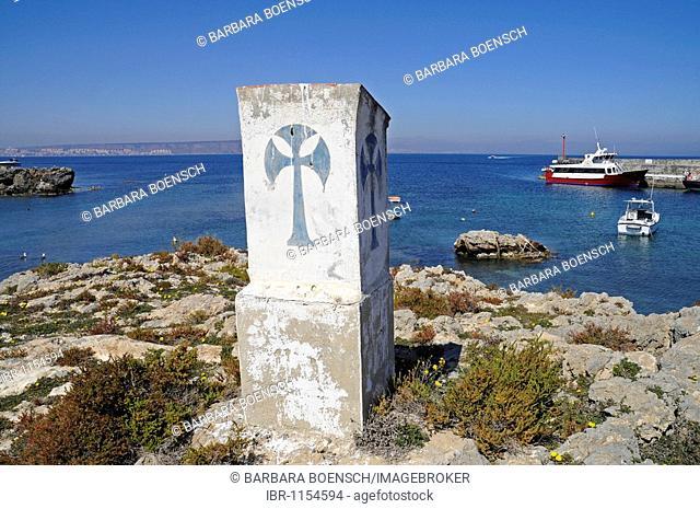 Anchorage ground, port, Tabarca, Isla de Tabarca, Alicante, Costa Blanca, Spain, Europe