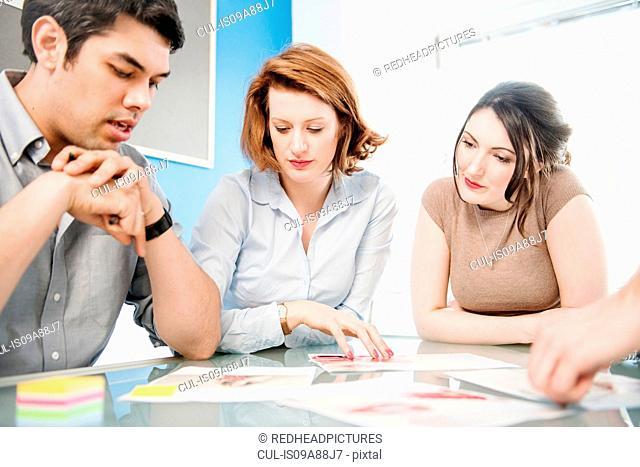 Office workers in meeting