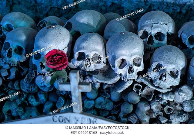 cimitero delle Fontanelle, Fontanel cemetery, in Naples, Italy
