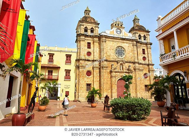 San Pedro Claver church, Cartagena de Indias, Bolivar, Colombia