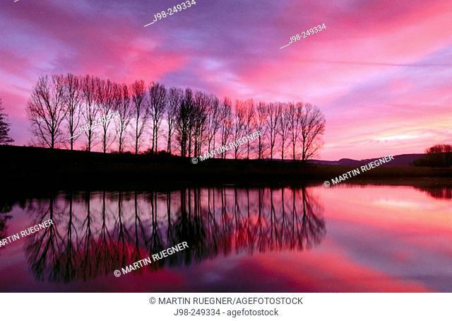 Sunrise in a lake of Bayern. Germany