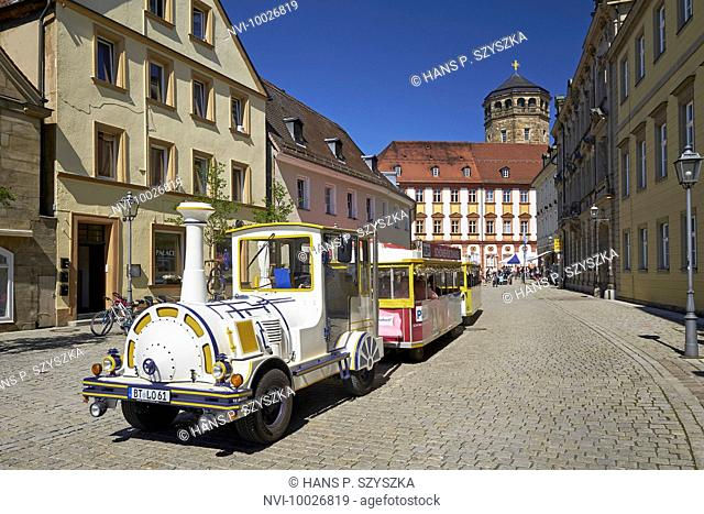City tour with Old Palace and Tower in Bayreuth, Upper Franconia, Bayern, Germany