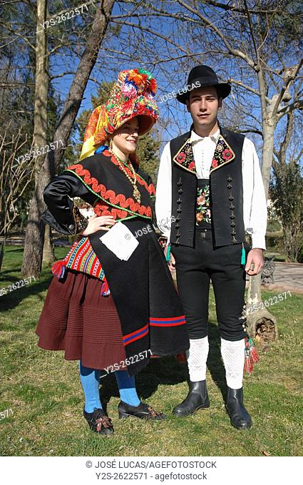 Typical folk costumes, Montehermoso, Caceres province, Region of Extremadura, Spain, Europe