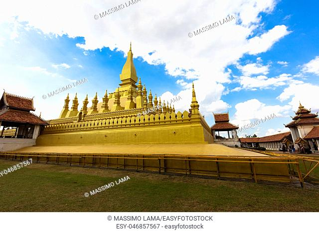November 22, 2016, Vientiane, Laos: The big stupa