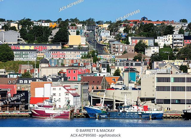 View of St. john's Waterfront, Newfoundland, Canada