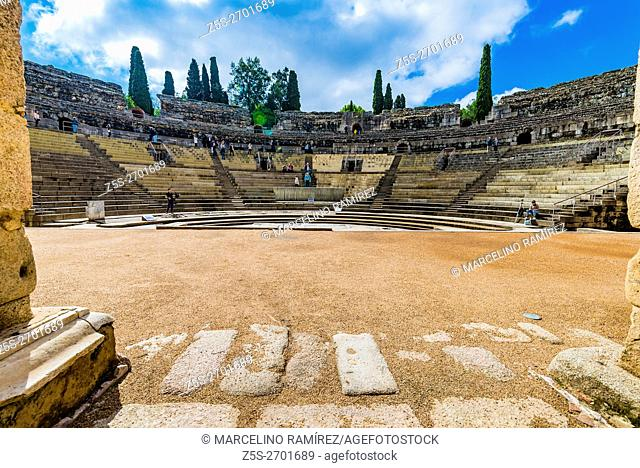 The Roman Theatre of Mérida is a construction promoted by the consul Vipsanius Agrippa in the Roman city of Emerita Augusta, capital of Lusitania