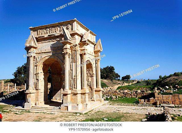 The Septimus Severus Arch at Leptis Magna, Libya