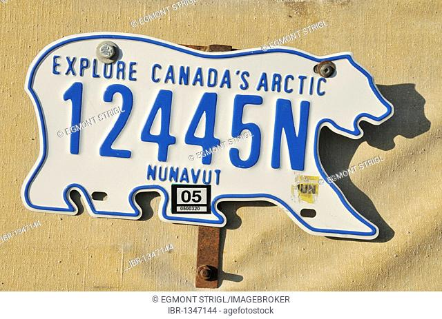 Licence plate of Nunavut, Resolute Bay, Canada, Arctic