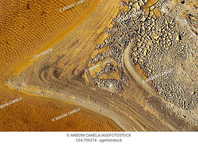 Rio Tinto river. Mines at Rio Tinto basin. Huelva. Spain
