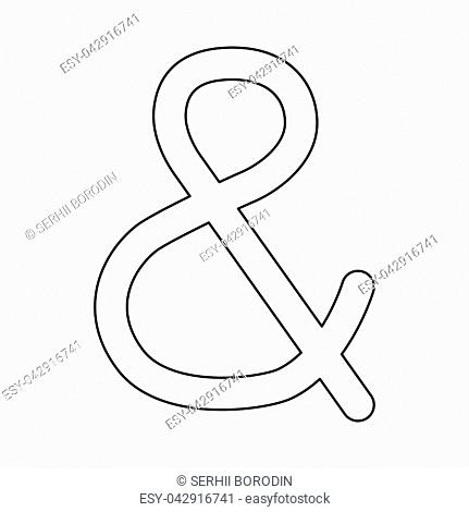 Ampersand it is black color path icon