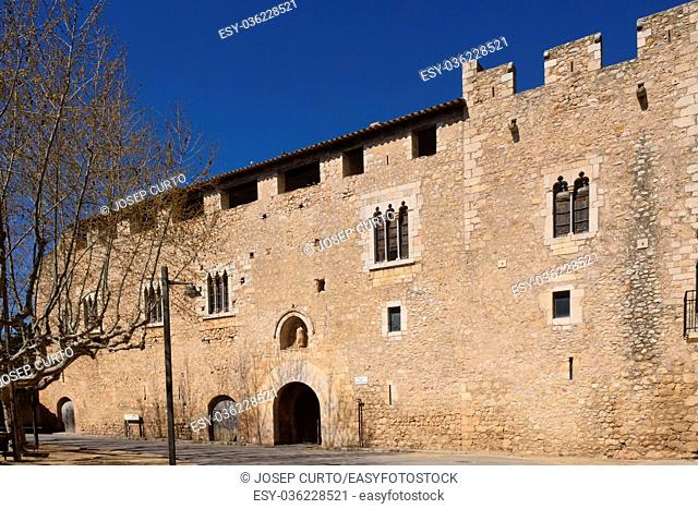 Palace abbot at the Monastery of Santa Maria de Vilabertran, Alt Emporda, Girona province, Spain