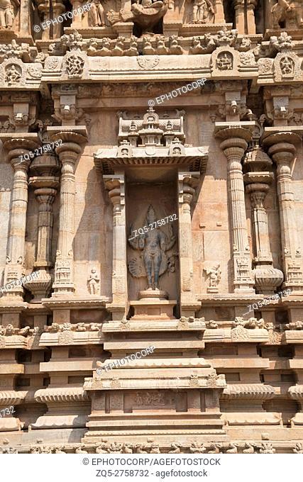 Kartikeya, Niche in the west wall, Subrahmanyam shrine, Brihadisvara Temple complex, Tanjore, Tamil Nadu, India