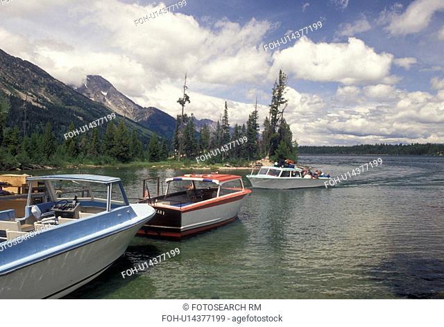 Grand Teton National Park, Jenny Lake, WY, Jackson Hole, Wyoming, Boat excursion on Jenny Lake in Grand Teton Nat'l Park in Wyoming