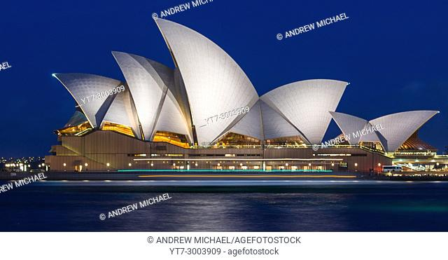 Sydney Opera House after dark. NSW, Australia