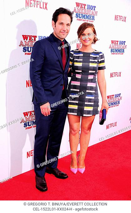 Paul Rudd, Amy Poehler at arrivals for Netflix's WET HOT AMERICAN SUMMER: FIRST DAY OF CAMP Premiere, The School of Visual Arts (SVA) Theatre, New York