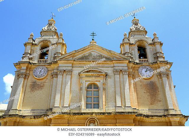 St. Pauls cathedral in Mdina, Malta