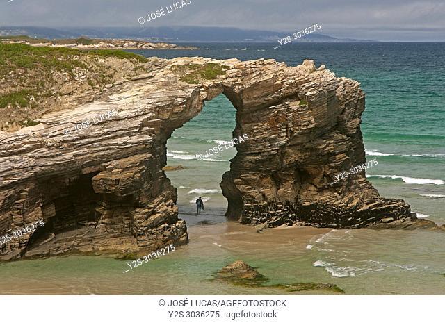 Las Catedrales Beach, Ribadeo, Lugo province, Region of Galicia, Spain, Europe