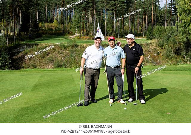 Nes Norway golf course with local men golfers called Ringerke Golf Course MR-3