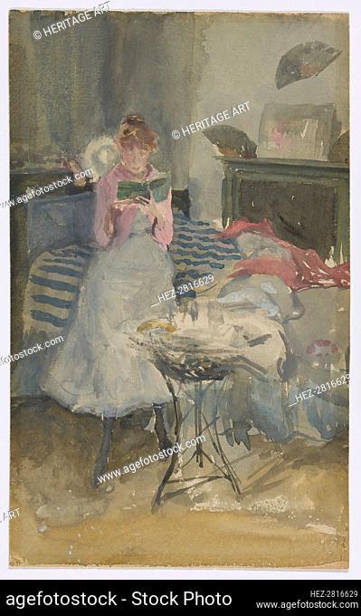 Pink Note - The Novelette, 1883-1884. Creator: James Abbott McNeill Whistler